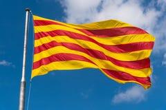 Senyera, flaga Catalonia fotografia royalty free