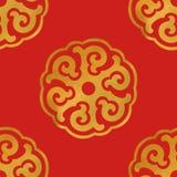 Senza cuciture dell'ornamento asiatico rotondo Fotografia Stock Libera da Diritti