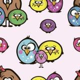 Senza cuciture delle icone degli uccelli Fotografie Stock Libere da Diritti