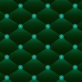 Senza cuciture di cuoio verde d'annata Fotografia Stock