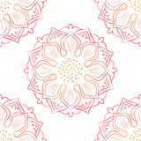 Senza cuciture di Lotus On White rossa Fotografie Stock Libere da Diritti