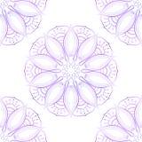 Senza cuciture di Violet Lotus On White Fotografia Stock