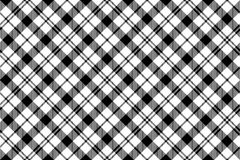 Senza cuciture diagonale del tartan milytary bianco nero Fotografia Stock Libera da Diritti