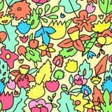 Senza cuciture floreale colorato pastello sveglio puerile Fotografia Stock