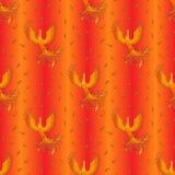 Senza cuciture luminoso con Phoenix Fotografie Stock