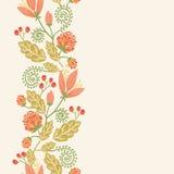 Senza cuciture verticale dei fiori e delle bacche della primavera Fotografia Stock