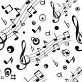Senza giunte con alcune note musicali Fotografia Stock