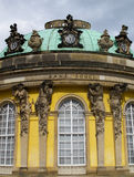 Senza il palazzo di Souci a Potsdam fotografie stock libere da diritti