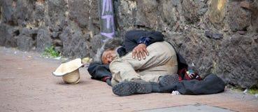 Senzatetto a Bogota fotografie stock