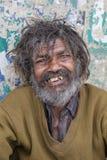 Senzatetto del ritratto a Varanasi, India Fotografie Stock Libere da Diritti