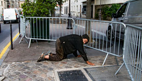 Senzatetto sulle vie di Parigi Immagine Stock Libera da Diritti