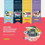 SEO和发展Infographic复合体 皇族释放例证