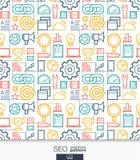 SEO墙纸 销售的无缝的样式 免版税库存图片