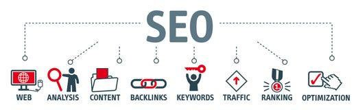 SEO搜索引擎优化例证 皇族释放例证