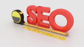 SEO搜索引擎优化表现概念 免版税库存图片