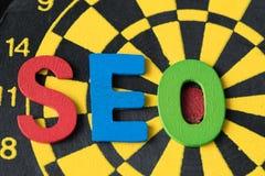 SEO搜索引擎作为五颜六色的字母表abb的优化概念 免版税库存图片