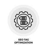 SEO标记优化线象 库存照片