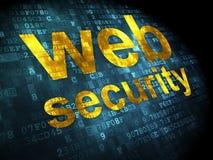 SEO概念:在数字式背景的网安全 库存照片