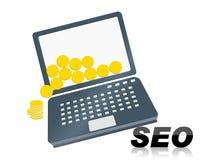 SEO计算机 免版税库存照片