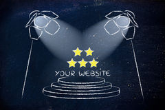 SEO, βελτιστοποίηση μηχανών αναζήτησης, σχέδιο επικέντρων Στοκ φωτογραφίες με δικαίωμα ελεύθερης χρήσης