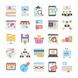 Seo και ψηφιακά μάρκετινγκ χρωματισμένα εικονίδια 5 Στοκ εικόνες με δικαίωμα ελεύθερης χρήσης