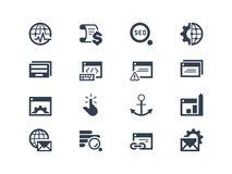 SEO Значки оптимизирования поисковой системы Стоковое Изображение