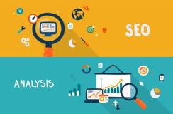 SEO и анализ Стоковое Изображение