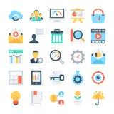 SEO и значки 8 вектора маркетинга бесплатная иллюстрация