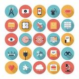 SEO и установленные значки сети бесплатная иллюстрация