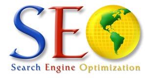 seo логоса стилизованное Стоковое Фото