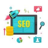 SEO, онлайн концепция маркетинга Стоковое Фото