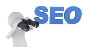 SEO. 3D letters representing Search Engine Optimization (SEO Stock Photography