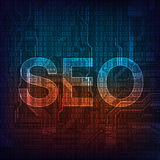 Seo. Abstract background with seo word. Eps10 layered  file Stock Photo