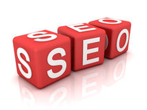 Seo. The right credit card. 3D render Stock Photography