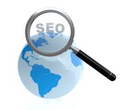 SEO. 3D illustration of search engine optimization concept  on white background Royalty Free Stock Photography