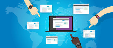 Оптимизирование поисковой системы seo вебсайта здания связи задней связи refferal Стоковые Изображения