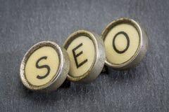 SEO acronym in typewriter keys Royalty Free Stock Images