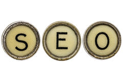 SEO acronym in typewriter keys Royalty Free Stock Image