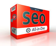 Seo advertising red pack concept Royalty Free Stock Photo