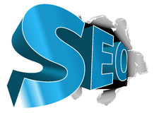 SEO - Affiche d'optimisation de Search Engine illustration stock