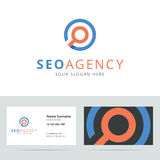 SEO agency logo and business card template. Royalty Free Stock Photos