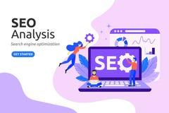 SEO Analysis design concept. modern flat style. Vector illustra stock illustration