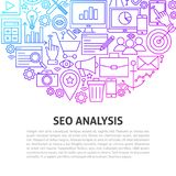 Seo Analysis Line Concept illustration de vecteur
