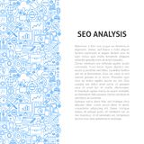 Seo Analysis Line Pattern Concept illustration stock