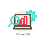 SEO analysis process vector concept Royalty Free Stock Image