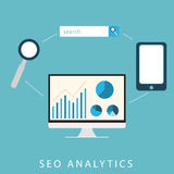 SEO Analytics Fotografie Stock