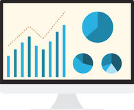 SEO Analytics Computer illustration stock