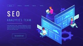 SEO analytics team landing page. Stock Photography
