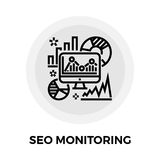 SEO Audit Line Icon illustration de vecteur