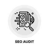 SEO Audit Line Icon Images libres de droits